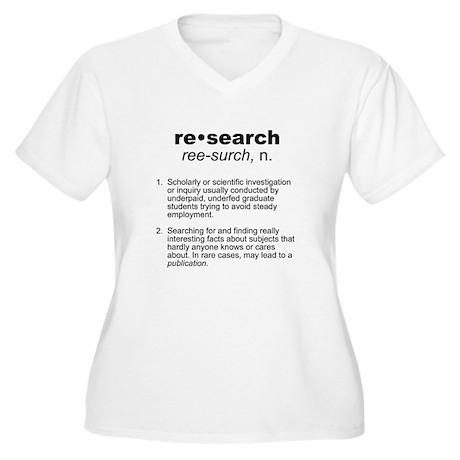 Academic Women's Plus Size V-Neck T-Shirt