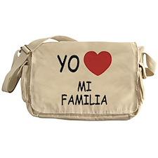 Yo amo mi familia Messenger Bag