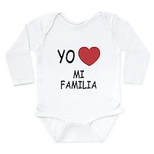 Yo amo mi familia Long Sleeve Infant Bodysuit