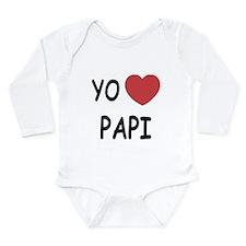 Yo amo papi Long Sleeve Infant Bodysuit