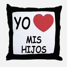 Yo amo mis hijos Throw Pillow