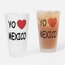 Yo amo Mexico Drinking Glass