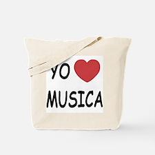 Yo amo musica Tote Bag
