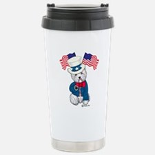 Yankee Doodle Westie Travel Mug