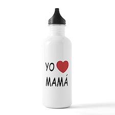 Yo amo mama Water Bottle