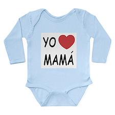 Yo amo mama Long Sleeve Infant Bodysuit