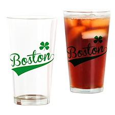 Boston Green Drinking Glass
