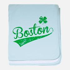 Boston Green baby blanket