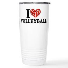 I love Volleyball Travel Mug