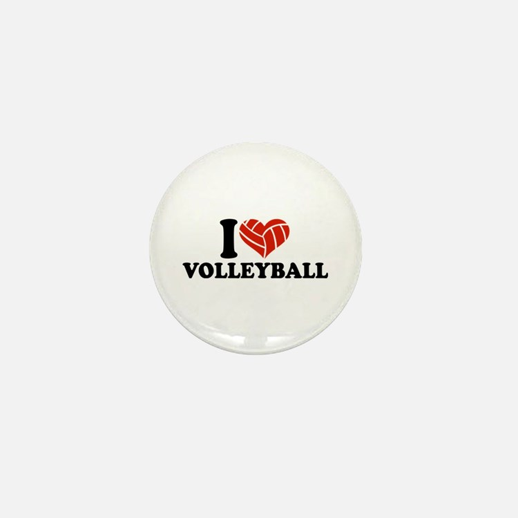 I love Volleyball Mini Button (10 pack)