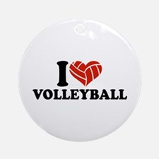 I love Volleyball Ornament (Round)
