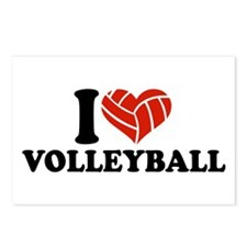 I love Volleyball Postcards (Package of 8)