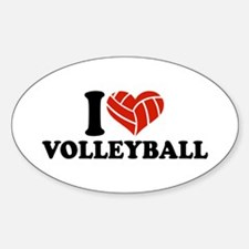 I love Volleyball Decal