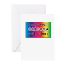 Prays Well With Others Greeting Cards (Pk of 10)