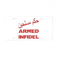 Arabic Armed Infidel Aluminum License Plate