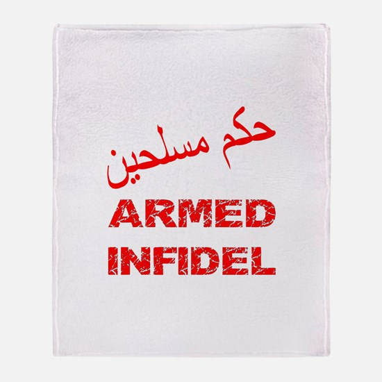 Arabic Armed Infidel Throw Blanket