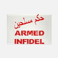 Arabic Armed Infidel Rectangle Magnet