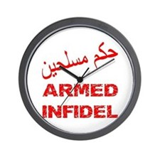 Arabic Armed Infidel Wall Clock