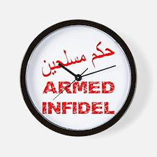Arabic Armed Infidel Wall Clock