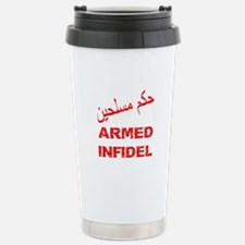 Arabic Armed Infidel Stainless Steel Travel Mug