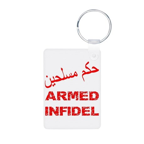 Arabic Armed Infidel Aluminum Photo Keychain