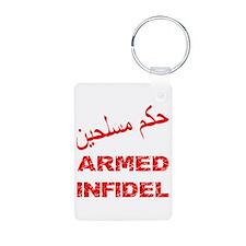 Arabic Armed Infidel Keychains