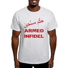 Arabic Armed Infidel T-Shirt