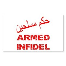 Arabic Armed Infidel Decal