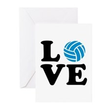 Volleyball love Greeting Cards (Pk of 20)