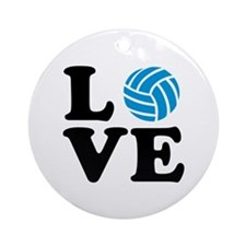 Volleyball love Ornament (Round)