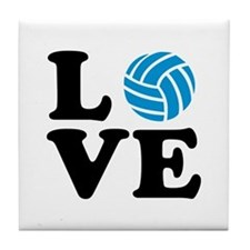Volleyball love Tile Coaster