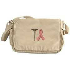 Screw Breast Cancer Messenger Bag