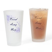 Army Mom Drinking Glass