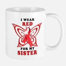 I Wear Red for my Sister Mug