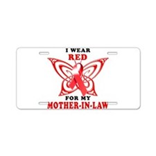 I Wear Red for my Mother in L Aluminum License Pla