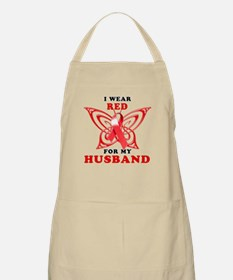 I Wear Red for my Husband Apron