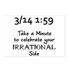 Pi Day Irrational Postcards (Package of 8)