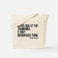 Trombone Quote Tote Bag