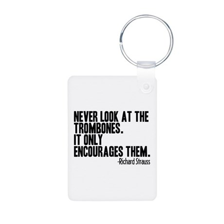 Trombone Quote Aluminum Photo Keychain