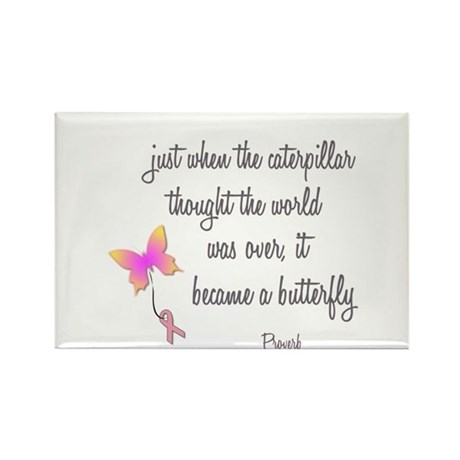 Caterpillar Became Butterfly Rectangle Magnet (10