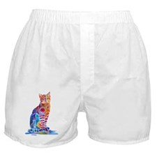 Whimsical Elegant Cat Boxer Shorts