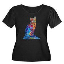 Whimsical Elegant Cat T