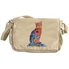 Whimsical Elegant Cat Messenger Bag