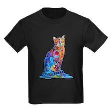 Whimsical Elegant Cat T