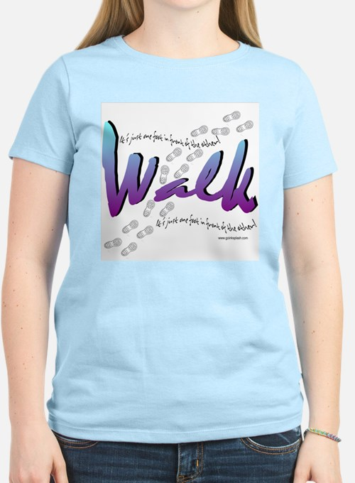 walk with shoes T-Shirt