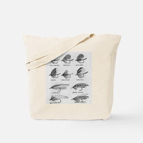 Fly Fishing Flies Tote Bag