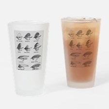 Fly Fishing Flies Drinking Glass
