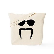 Mustache sunglasses Tote Bag