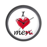 I Love Me (Men) Wall Clock