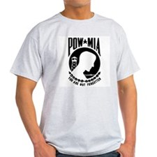 POW MIA Ash Grey T-Shirt